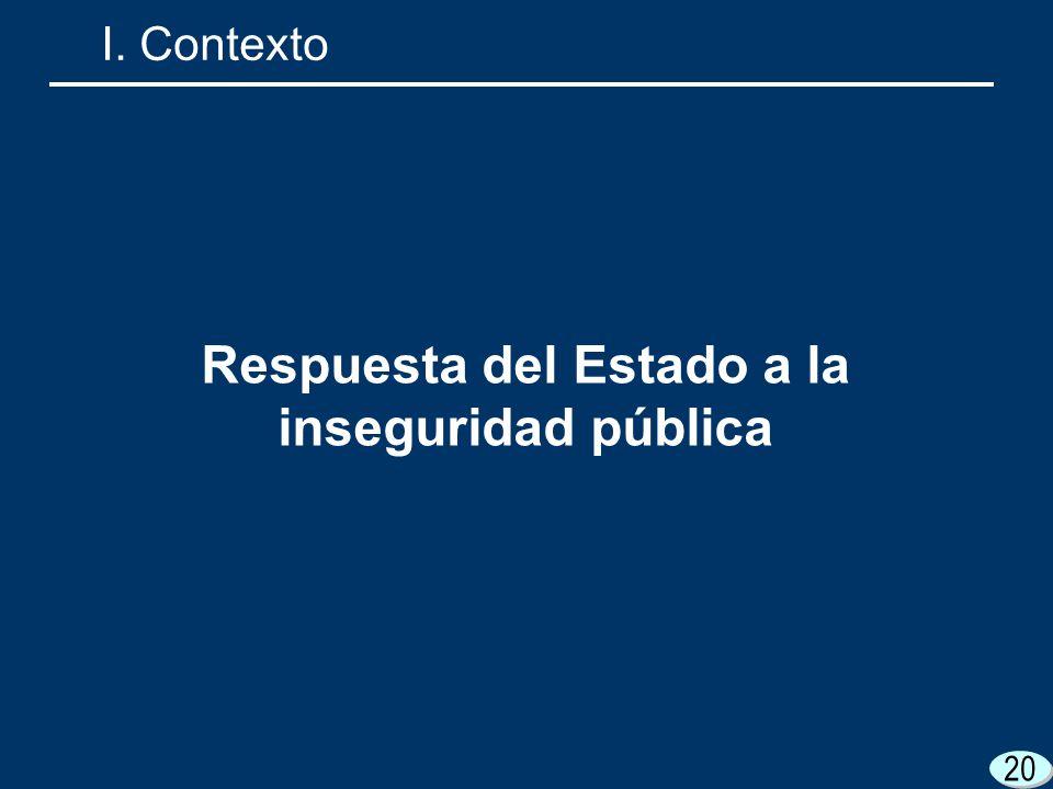 Respuesta del Estado a la inseguridad pública