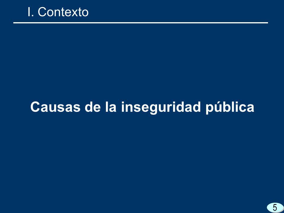 Causas de la inseguridad pública