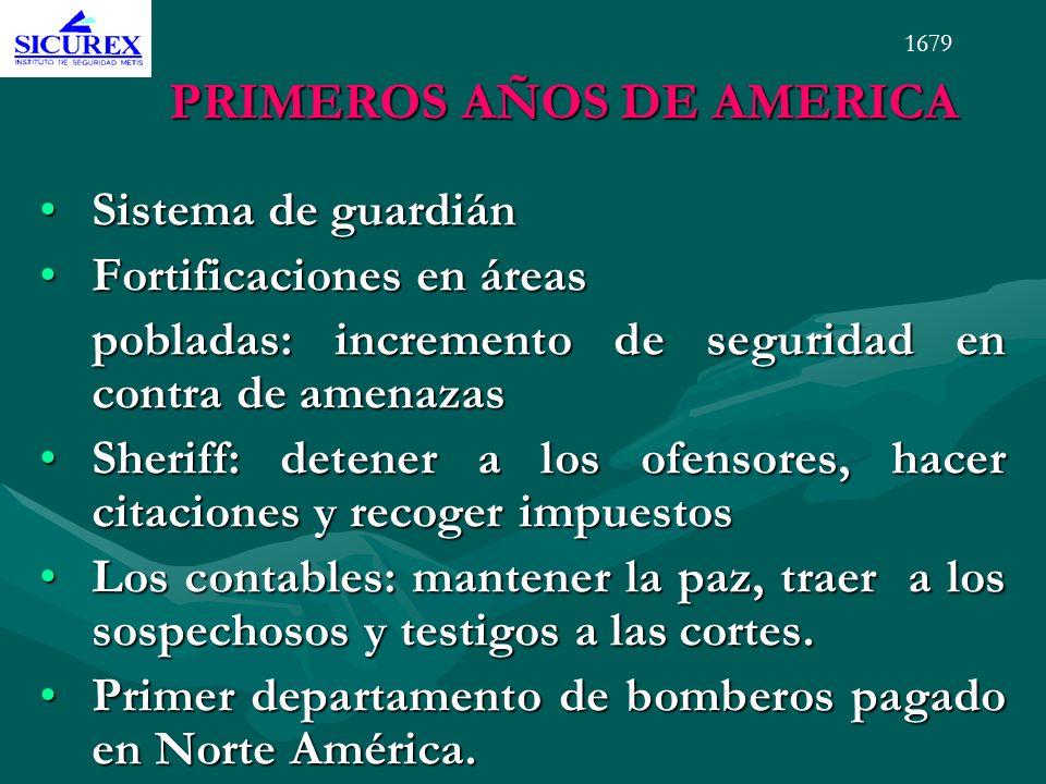 PRIMEROS AÑOS DE AMERICA