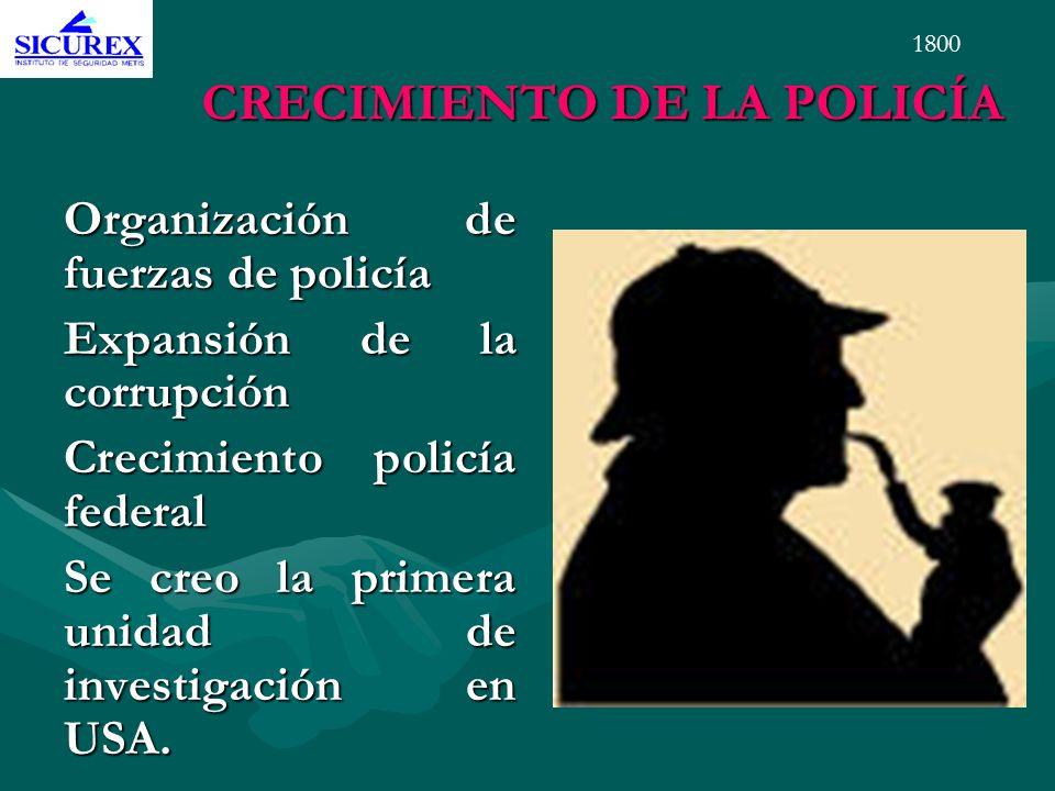 CRECIMIENTO DE LA POLICÍA