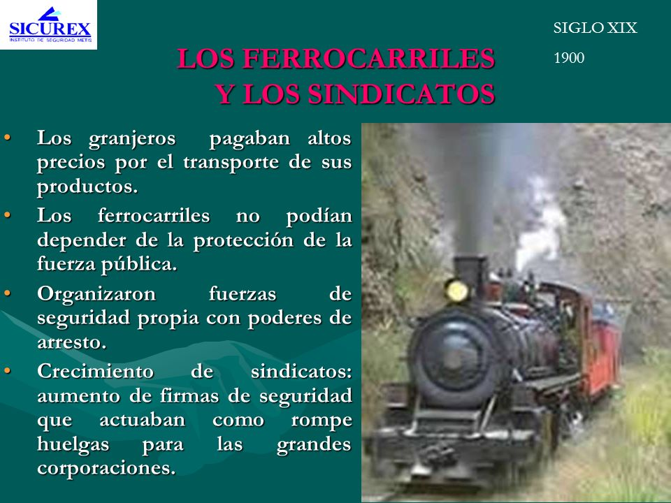 LOS FERROCARRILES Y LOS SINDICATOS