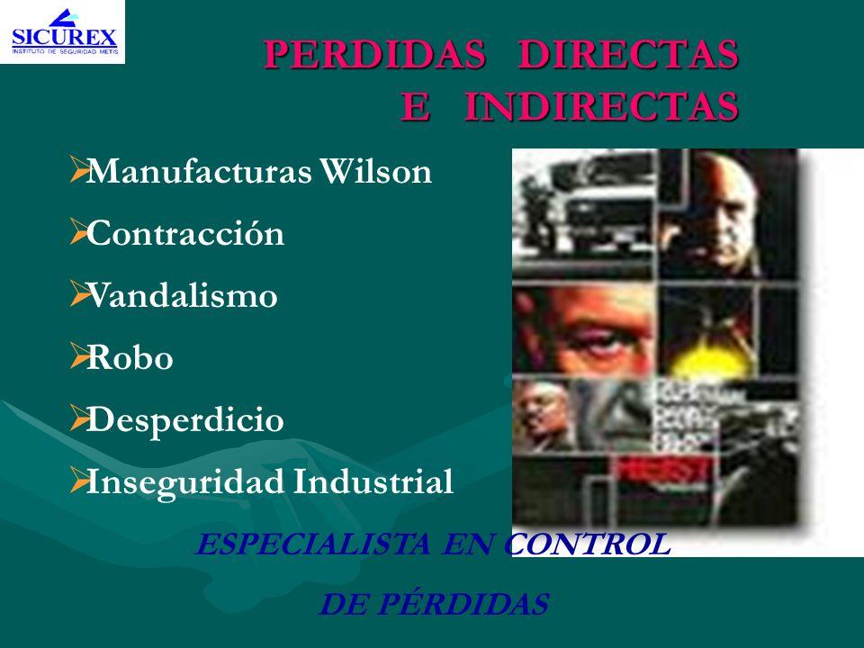 PERDIDAS DIRECTAS E INDIRECTAS