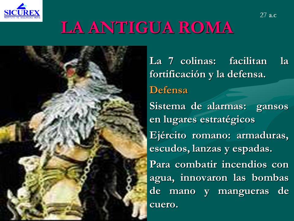LA ANTIGUA ROMA La 7 colinas: facilitan la fortificación y la defensa.