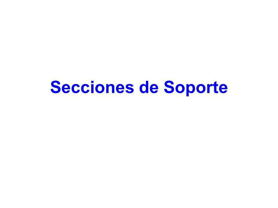 Secciones de Soporte 11
