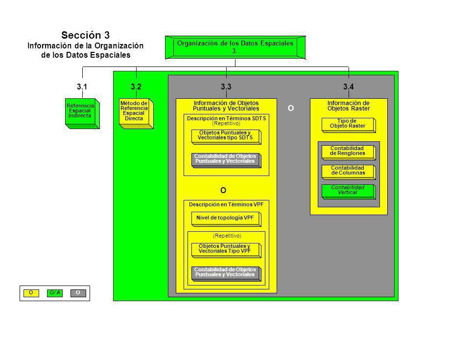 Información de la Organización de los Datos Espaciales
