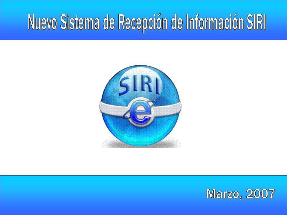 Nuevo Sistema de Recepción de Información SIRI