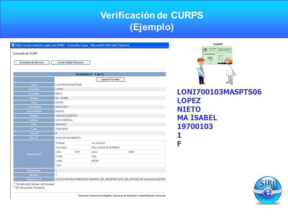 Verificación de CURPS (Ejemplo)