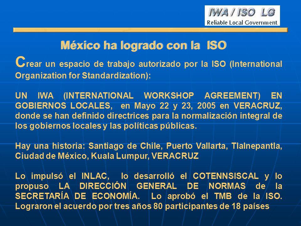México ha logrado con la ISO