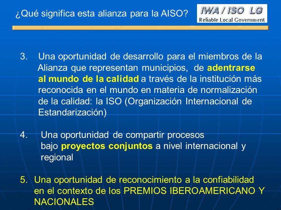 ¿Qué significa esta alianza para la AISO