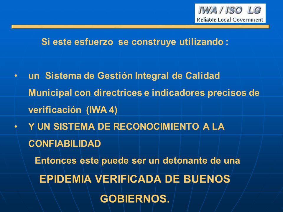 EPIDEMIA VERIFICADA DE BUENOS GOBIERNOS.