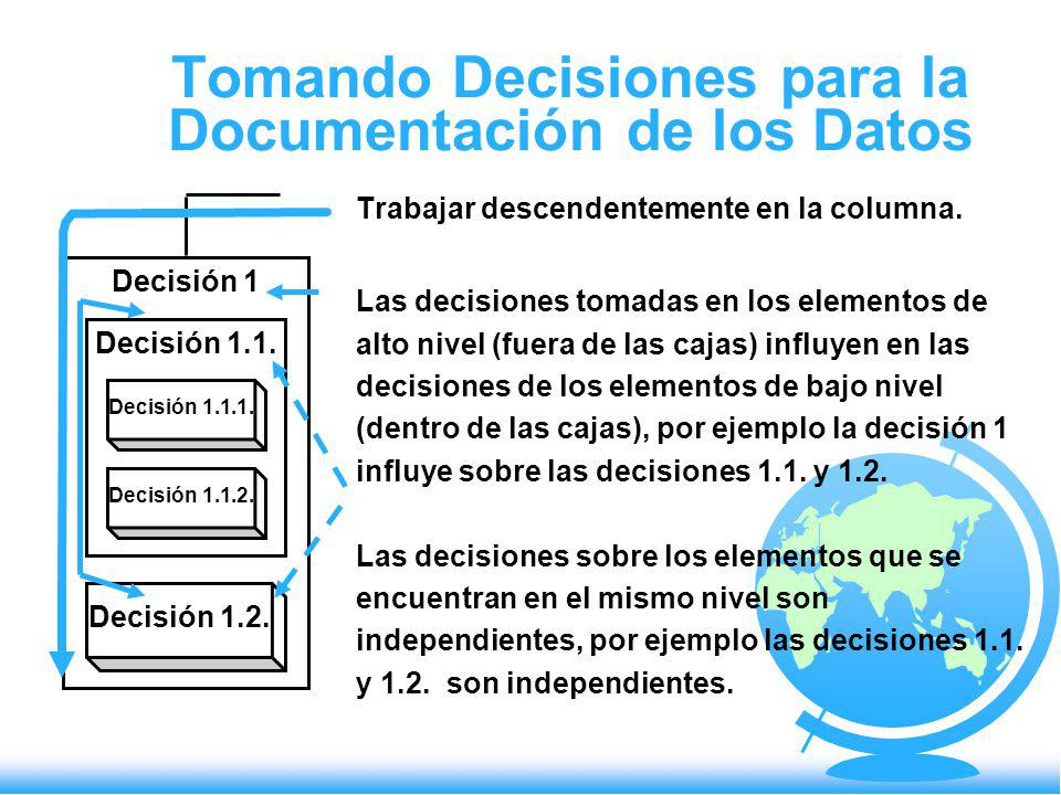 Tomando Decisiones para la Documentación de los Datos