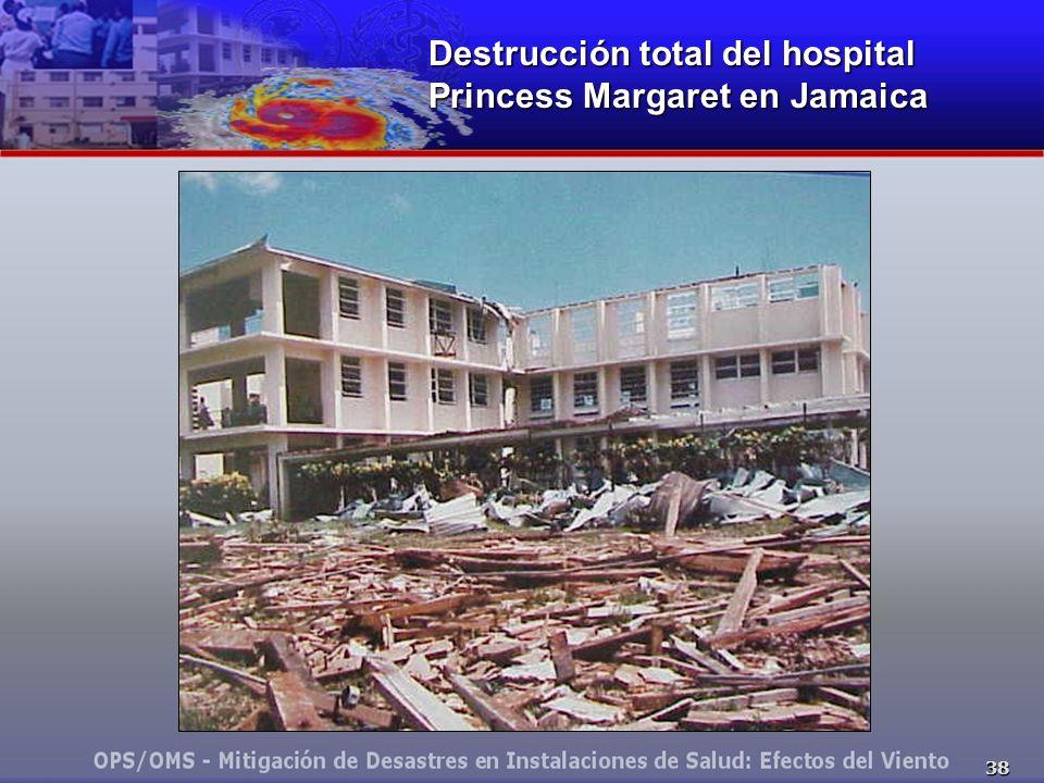 Destrucción total del hospital Princess Margaret en Jamaica