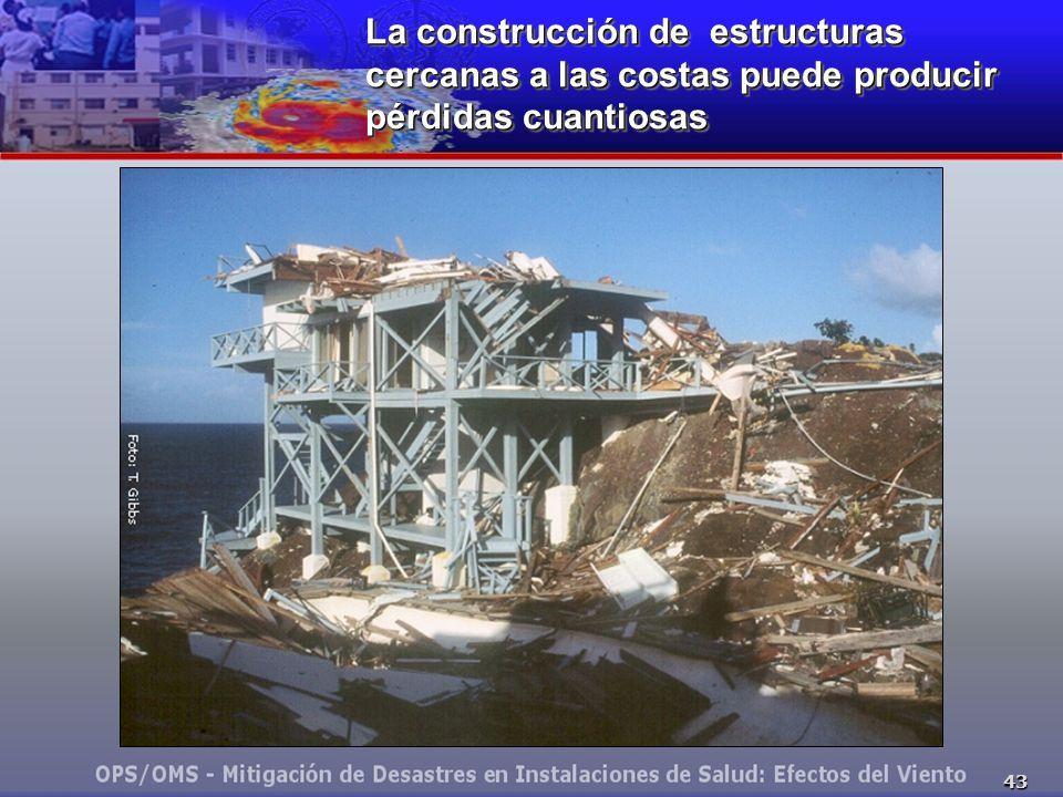 La construcción de estructuras cercanas a las costas puede producir pérdidas cuantiosas