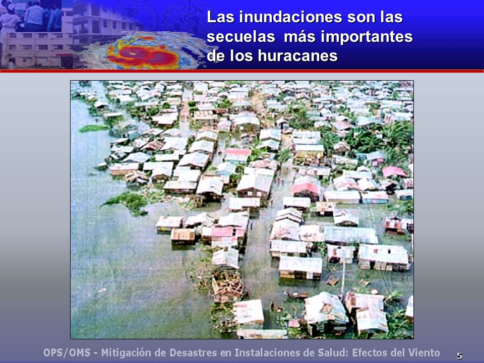 Las inundaciones son las secuelas más importantes de los huracanes