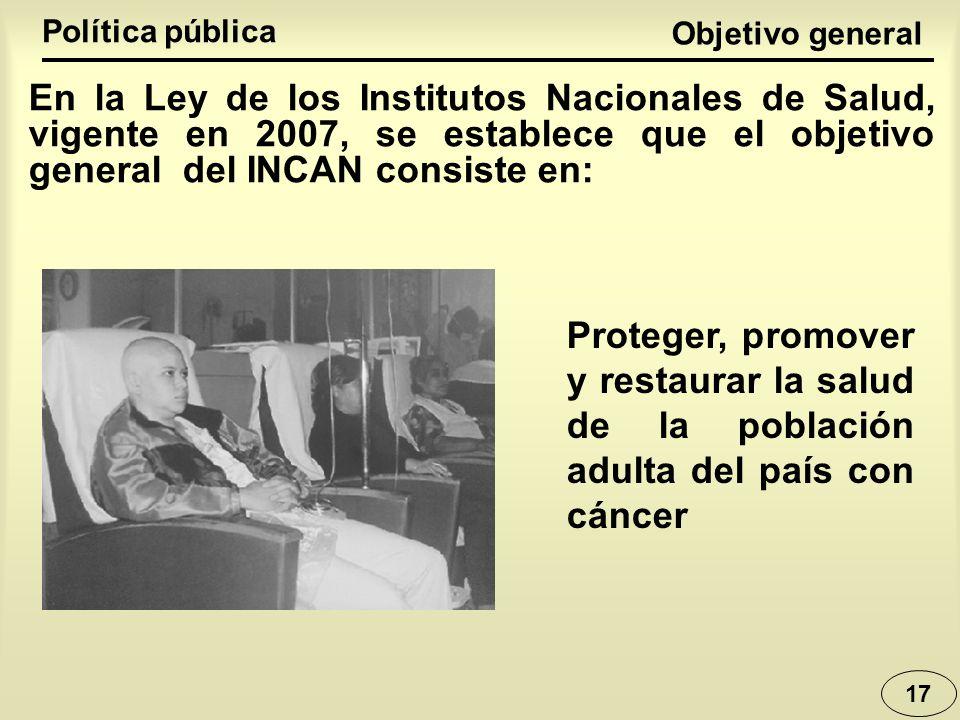Política pública Objetivo general.