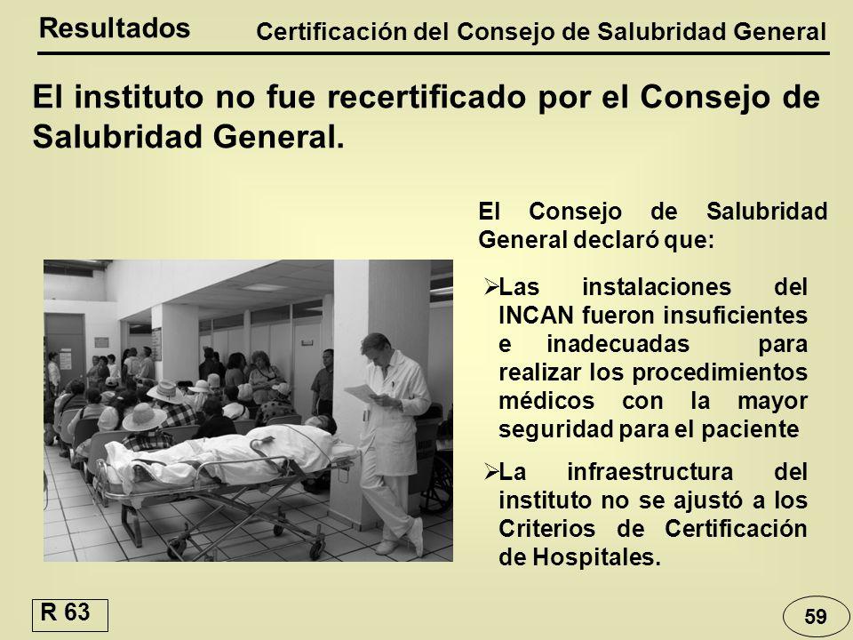 Certificación del Consejo de Salubridad General