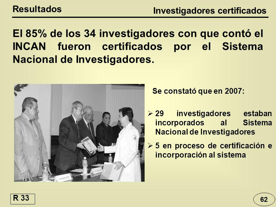 Investigadores certificados