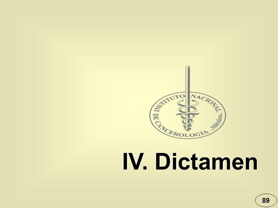 IV. Dictamen 89