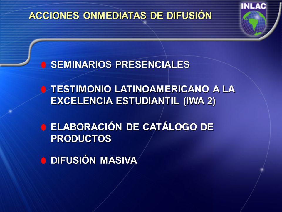 ACCIONES ONMEDIATAS DE DIFUSIÓN