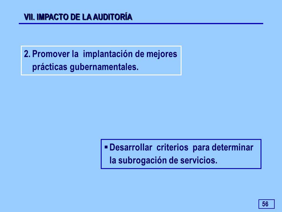 Promover la implantación de mejores prácticas gubernamentales.