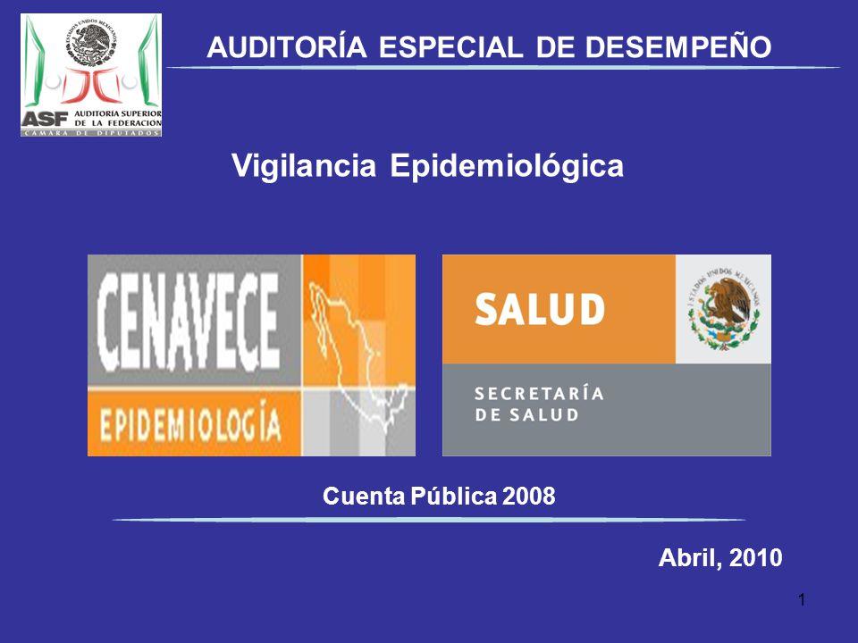 AUDITORÍA ESPECIAL DE DESEMPEÑO Vigilancia Epidemiológica