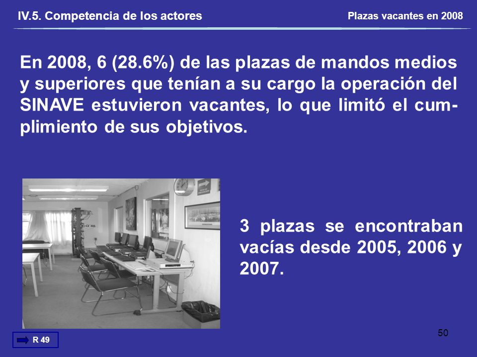 3 plazas se encontraban vacías desde 2005, 2006 y 2007.
