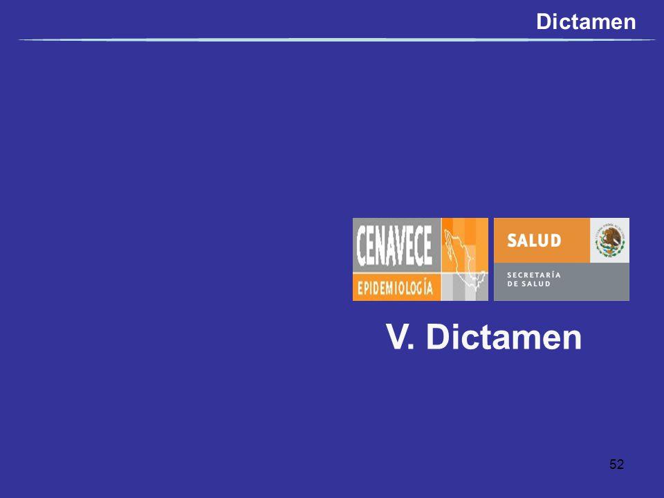 Dictamen V. Dictamen