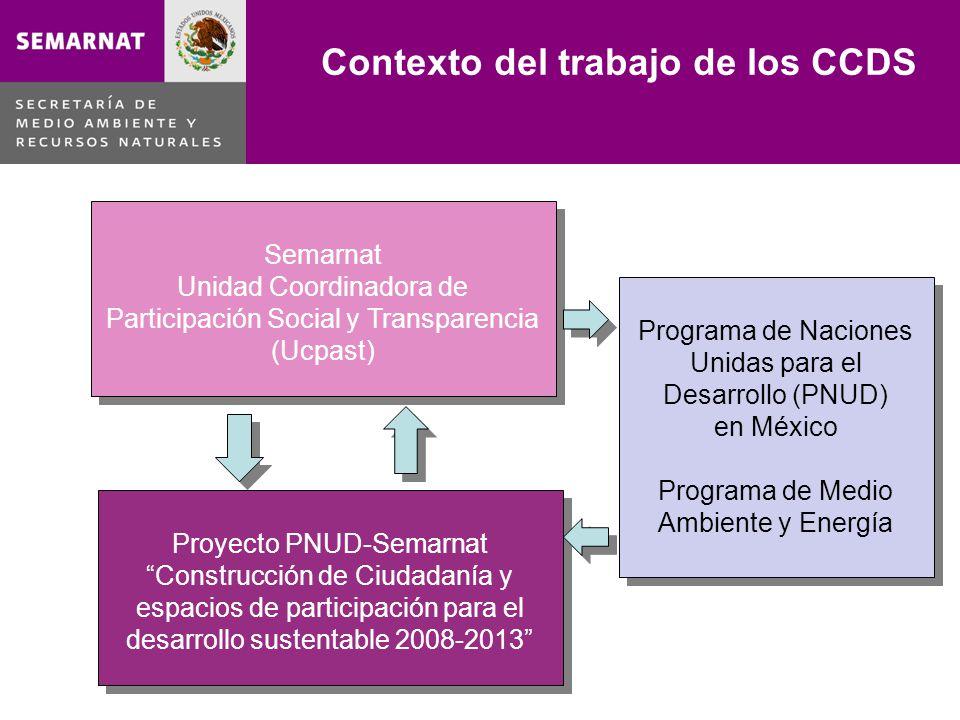 Contexto del trabajo de los CCDS