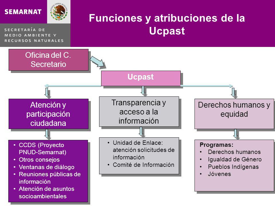 Funciones y atribuciones de la Ucpast
