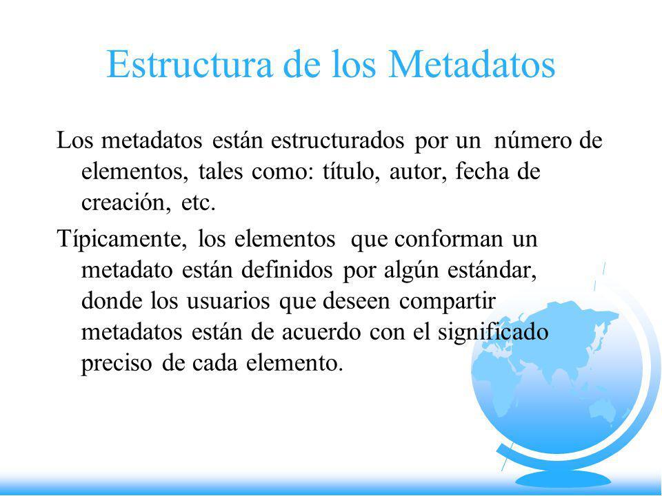 Estructura de los Metadatos