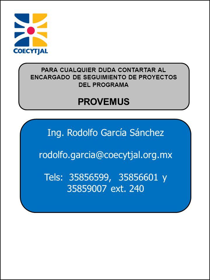 Ing. Rodolfo García Sánchez