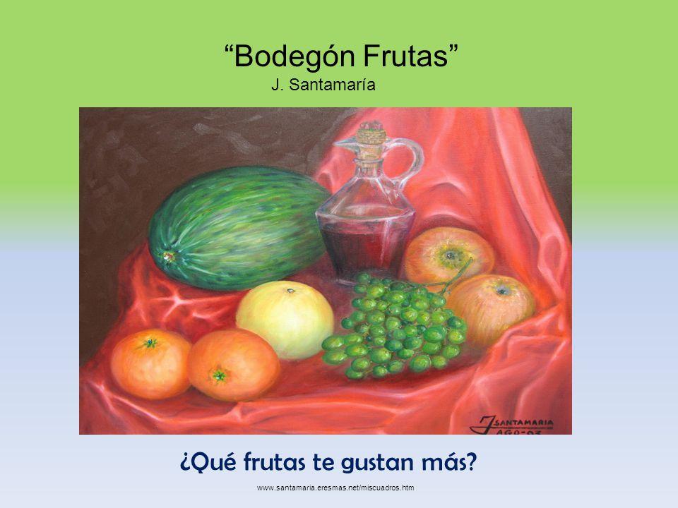 ¿Qué frutas te gustan más