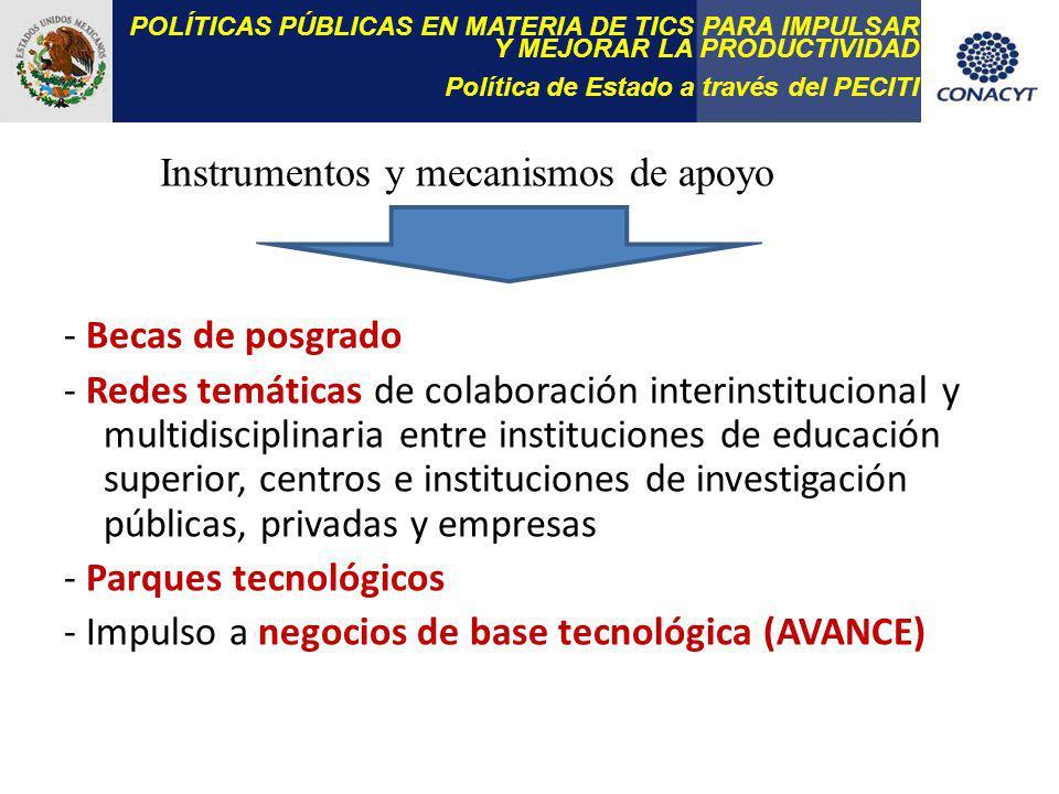 Instrumentos y mecanismos de apoyo