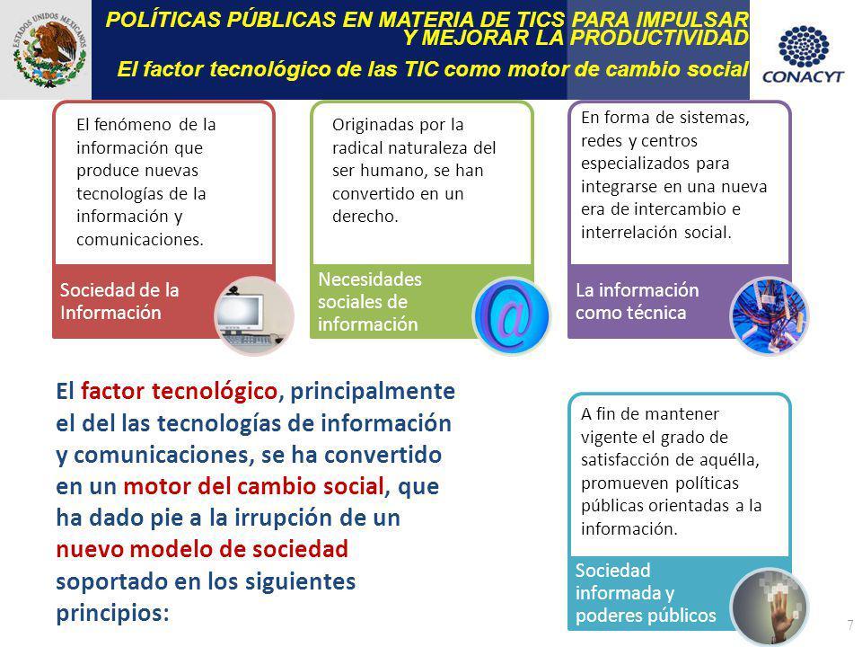 POLÍTICAS PÚBLICAS EN MATERIA DE TICS PARA IMPULSAR Y MEJORAR LA PRODUCTIVIDAD