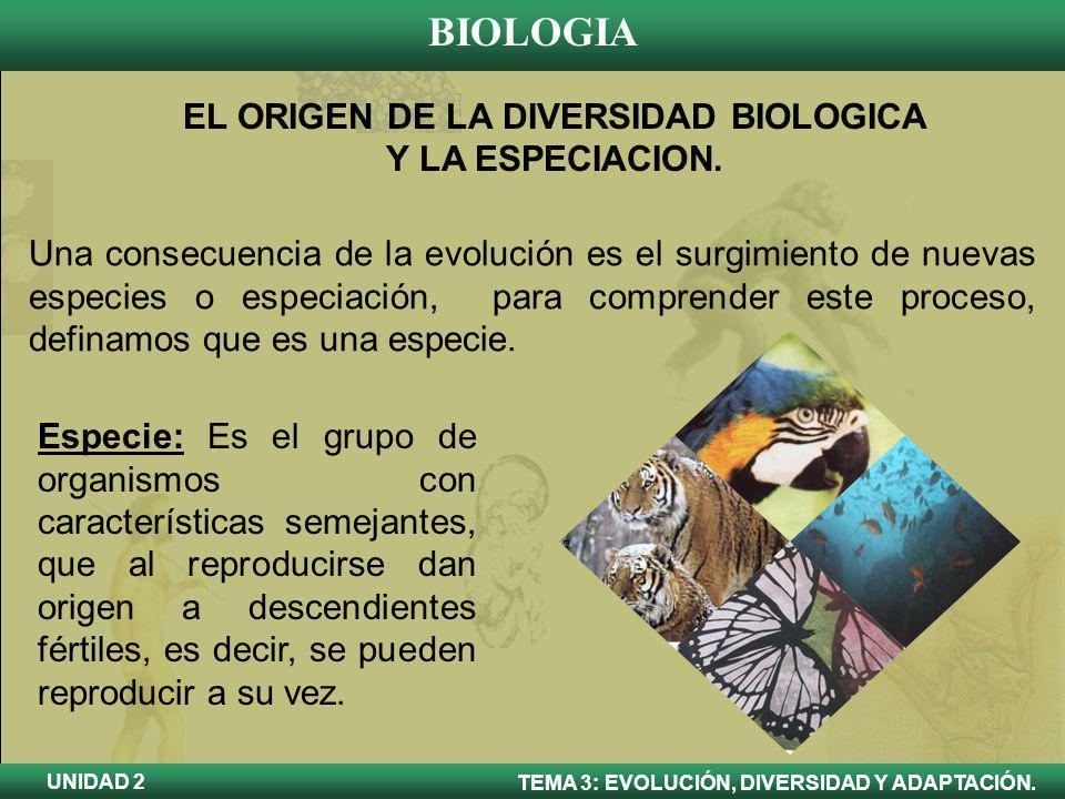 EL ORIGEN DE LA DIVERSIDAD BIOLOGICA