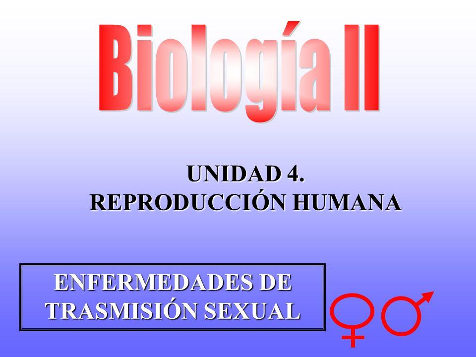 UNIDAD 4. REPRODUCCIÓN HUMANA ENFERMEDADES DE TRASMISIÓN SEXUAL