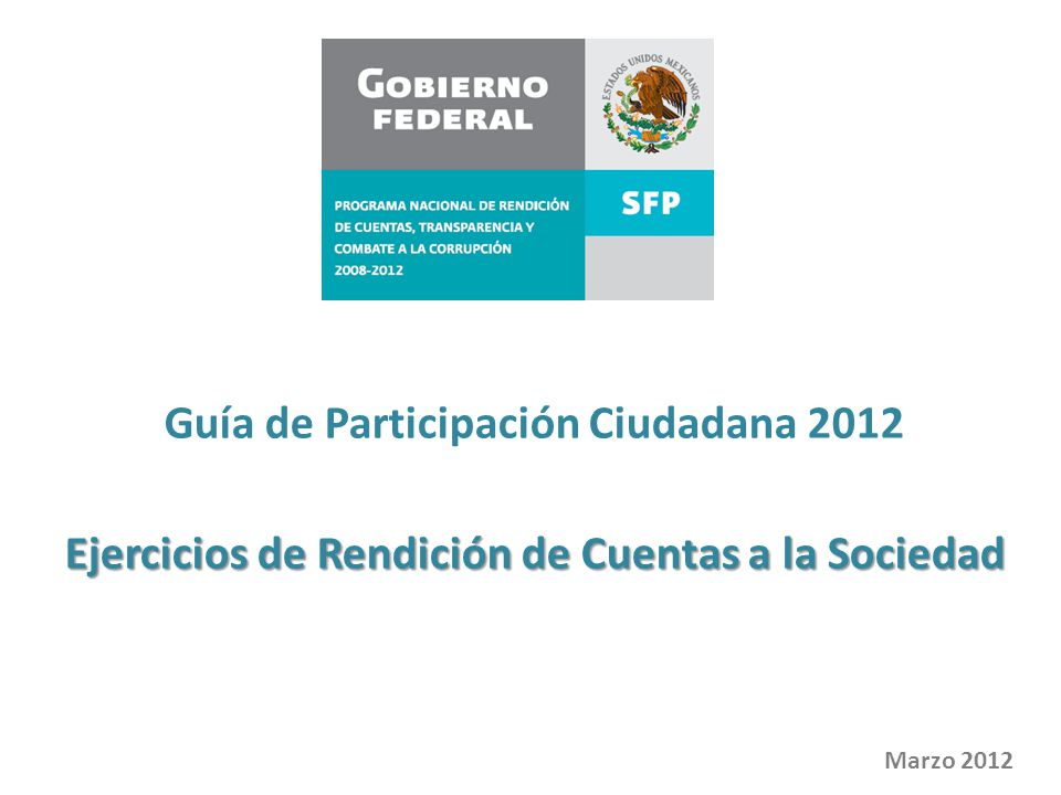 Guía de Participación Ciudadana 2012