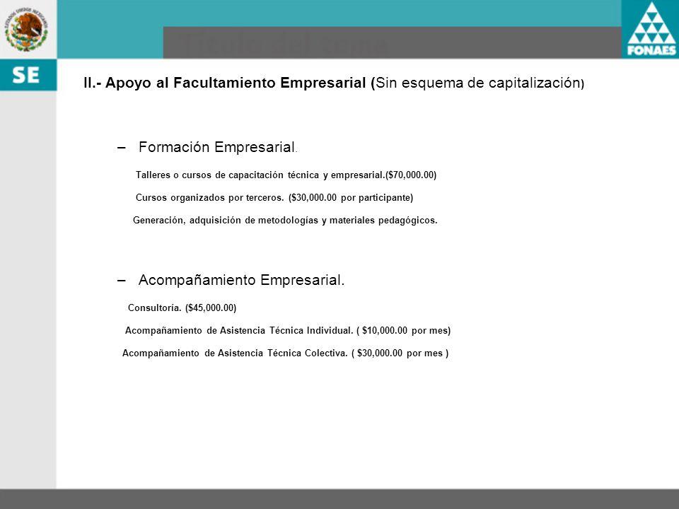 Formación Empresarial.