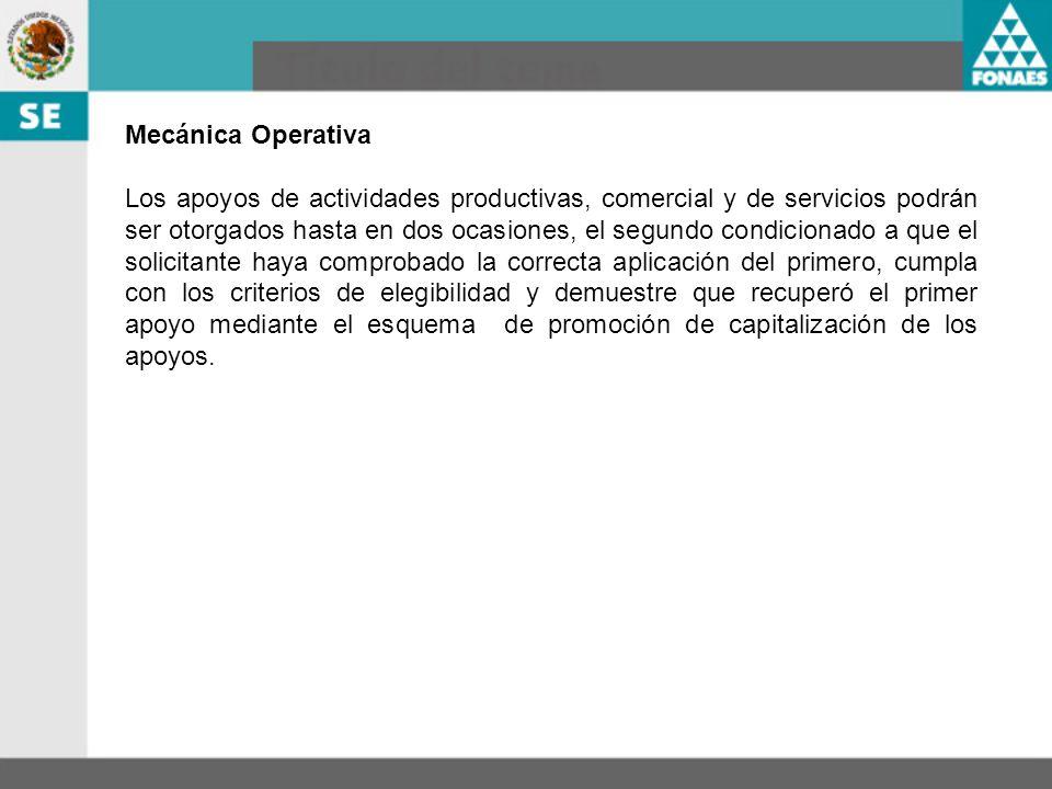 Mecánica Operativa