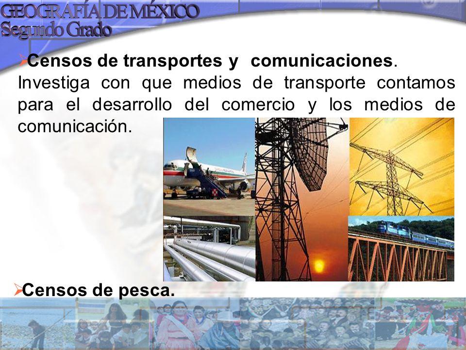 Censos de transportes y. comunicaciones