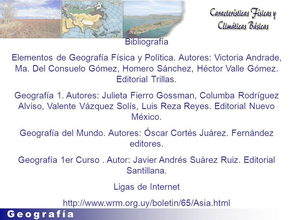 Geografía del Mundo. Autores: Óscar Cortés Juárez. Fernández editores.