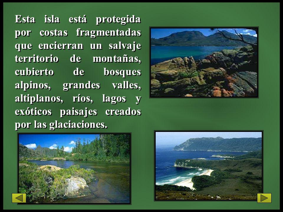 Esta isla está protegida por costas fragmentadas que encierran un salvaje territorio de montañas, cubierto de bosques alpinos, grandes valles, altiplanos, ríos, lagos y exóticos paisajes creados por las glaciaciones.