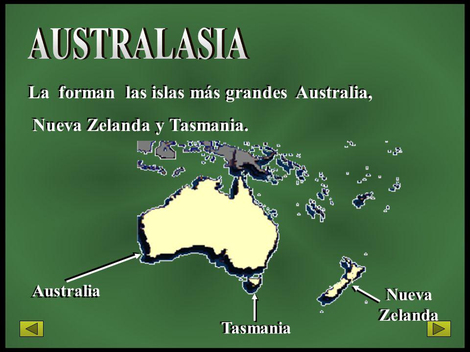 AUSTRALASIA La forman las islas más grandes Australia,