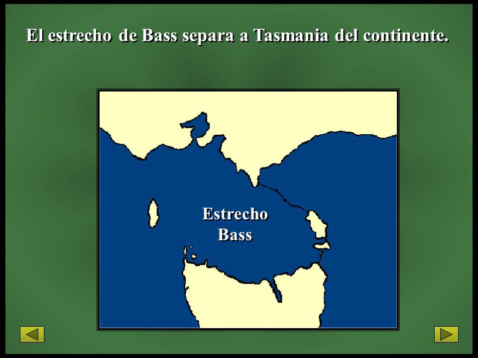 El estrecho de Bass separa a Tasmania del continente.
