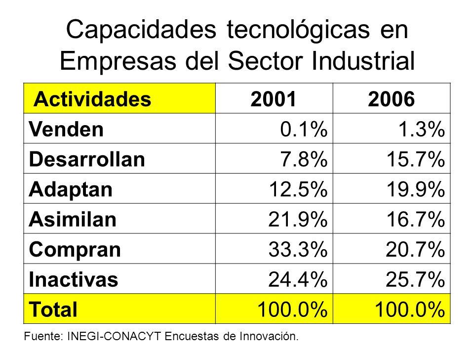 Capacidades tecnológicas en Empresas del Sector Industrial