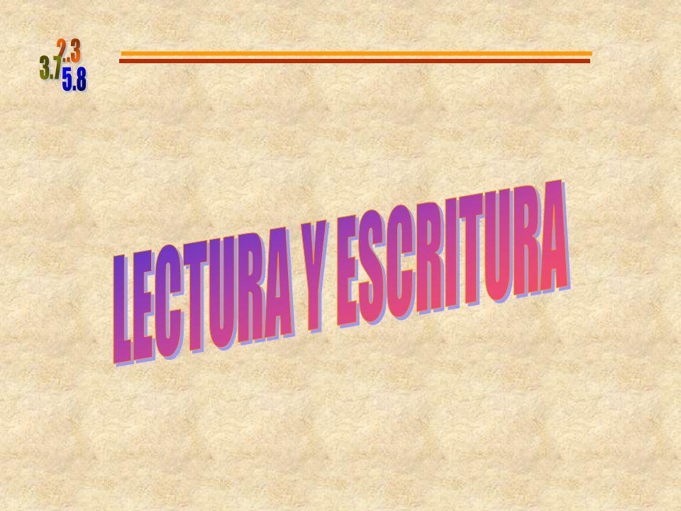 5.8 2.3 3.7 LECTURA Y ESCRITURA