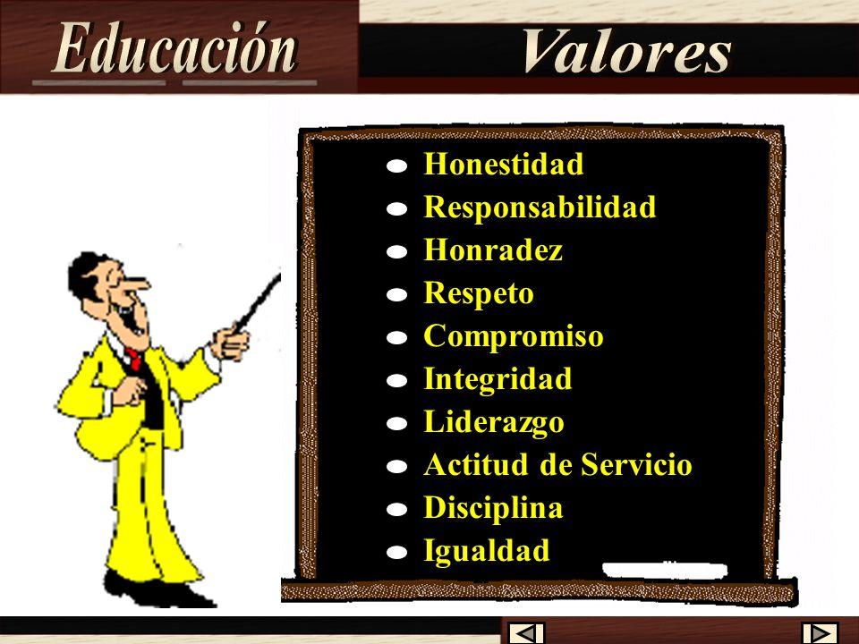 Educación Valores Honestidad Responsabilidad Honradez Respeto