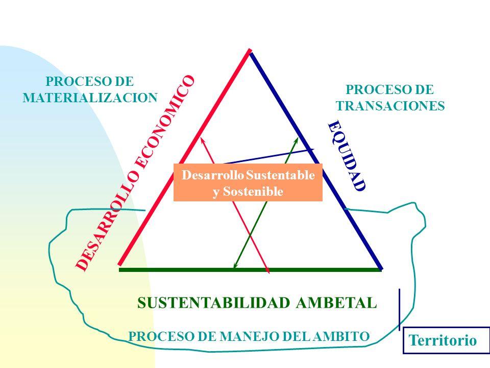 Desarrollo Sustentable y Sostenible PROCESO DE MANEJO DEL AMBITO