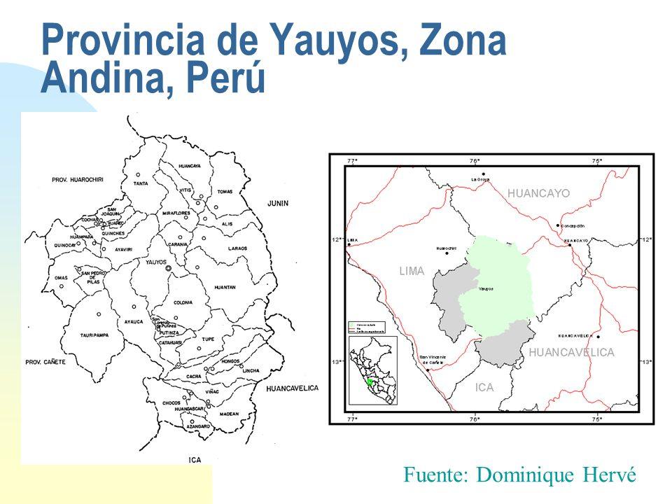 Provincia de Yauyos, Zona Andina, Perú
