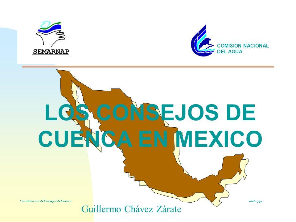 LOS CONSEJOS DE CUENCA EN MEXICO